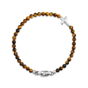 Spiritual Beads Cross Station Bracelet with Tigers Eye alternative image