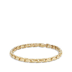 Medium Fluted Chain Bracelet in 18K Gold, 5mm