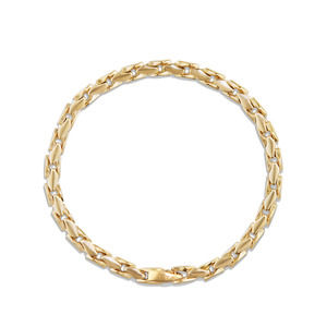 Medium Fluted Chain Bracelet in 18K Gold, 5mm alternative image