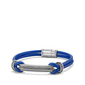 Maritime Rubber ID Bracelet in Blue