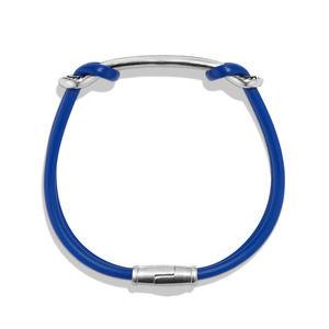 Maritime Rubber ID Bracelet in Blue alternative image