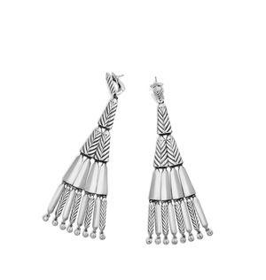 Stax Fringe Earrings with Diamonds alternative image