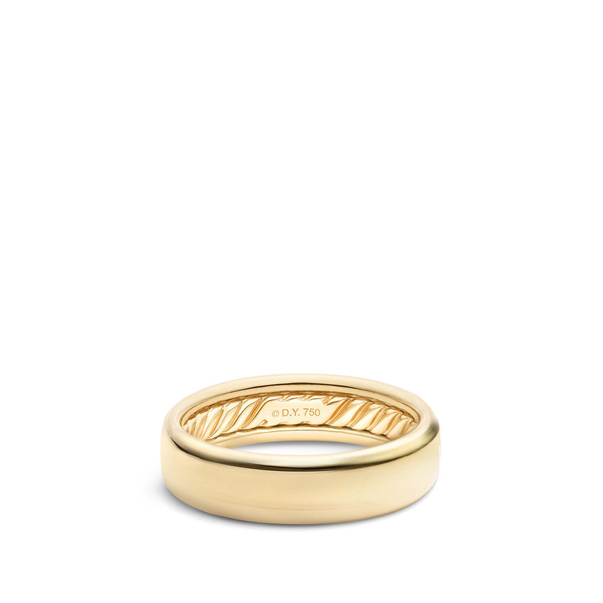 DY Classic Band Ring in 18K Yellow Gold