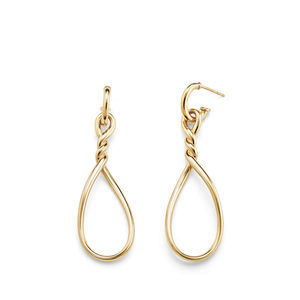 Continuance Large Drop Earrings in 18K Gold alternative image
