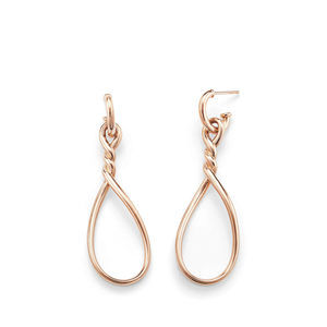 Continuance Large Drop Earrings in 18K Rose Gold alternative image
