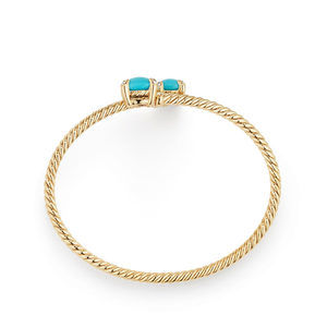 Chatelaine® Bypass Bracelet with Turquoise and Diamonds in 18K Gold alternative image