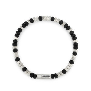 Hex Bead Bracelet in Black, 8mm alternative image