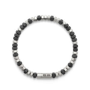 Hex Bead Bracelet in Grey, 8mm alternative image