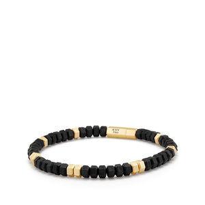 Hex Bead Bracelet with 18K Gold