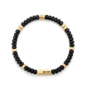Hex Bead Bracelet with 18K Gold alternative image