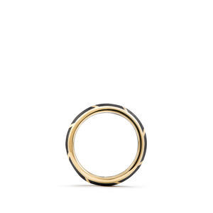 Forged Carbon Band Ring in 18K Gold, 8.5mm alternative image