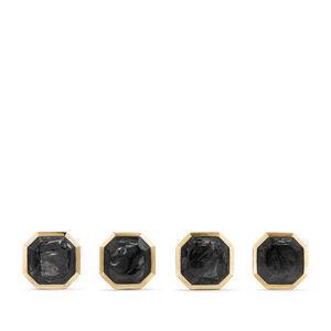 Forged Carbon Stud Set in 18K Gold alternative image