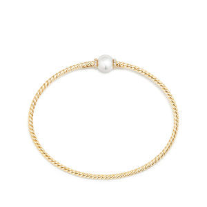 Petite Solari Station Bracelet with Cultured Pearl and Diamonds in 18K Gold alternative image