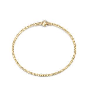 Petite Solari Station Pave Bracelet with Diamonds in 18K Gold alternative image