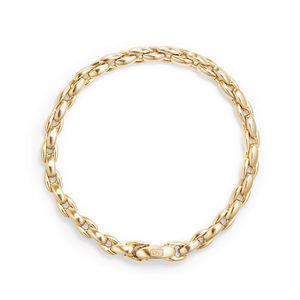 Elongated Box Chain Bracelet in 18K Gold, 6mm alternative image