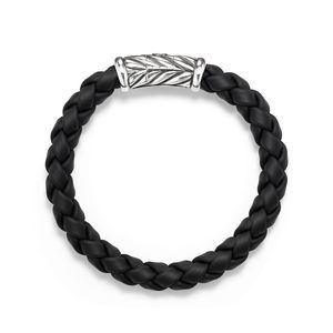 Chevron Rubber Weave Bracelet in Black alternative image