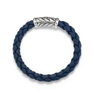 Chevron Rubber Weave Bracelet in Blue alternative image