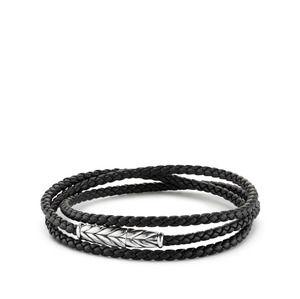 Chevron Triple-Wrap Bracelet in Black